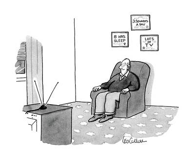 Leo Drawing - New Yorker June 22nd, 1987 by Leo Cullum