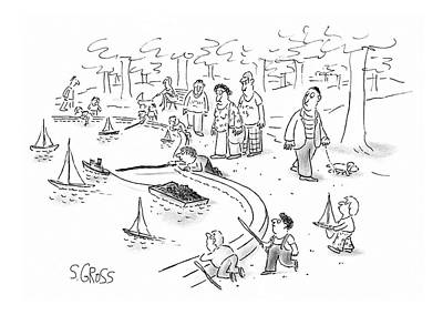 Long Island Drawing - New Yorker June 22nd, 1987 by Sam Gross