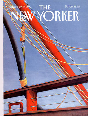 Pulley Painting - New Yorker June 22nd, 1992 by Gretchen Dow Simpson