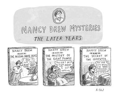 Stare Drawing - New Yorker June 22nd, 1998 by Roz Chast