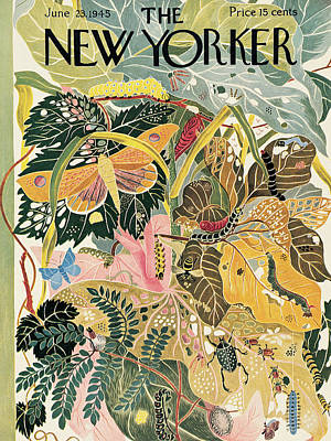 Beetle Painting - New Yorker June 23rd, 1945 by Ilonka Karasz