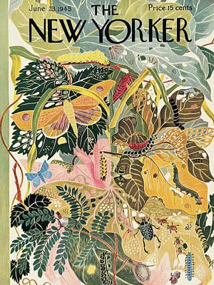Vegetation Painting - New Yorker June 23rd, 1945 by Ilonka Karasz
