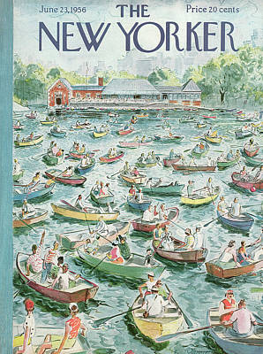 Captains Painting - New Yorker June 23rd, 1956 by Garrett Price