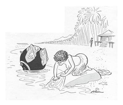 Mine Drawing - New Yorker June 24th, 1944 by  Alain