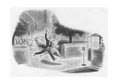 Bus Drawing - New Yorker June 24th, 1944 by Richard Taylor