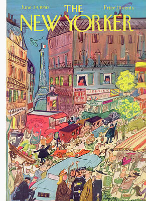 Street Scenes Painting - New Yorker June 24th, 1950 by Ludwig Bemelmans