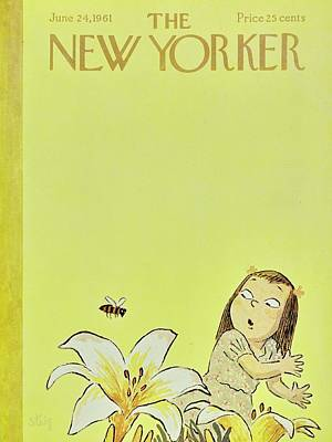Bees Painting - New Yorker June 24th 1961 by William Steig