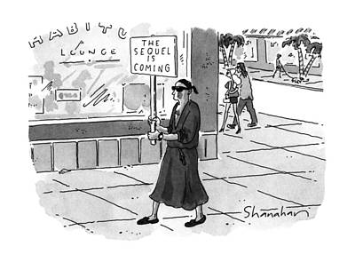 Carrier Drawing - New Yorker June 24th, 1996 by Danny Shanahan