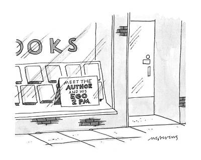 Window Signs Drawing - New Yorker June 24th, 1996 by Mick Stevens