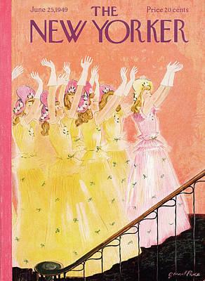 Bridesmaid Painting - New Yorker June 25th, 1949 by Garrett Price