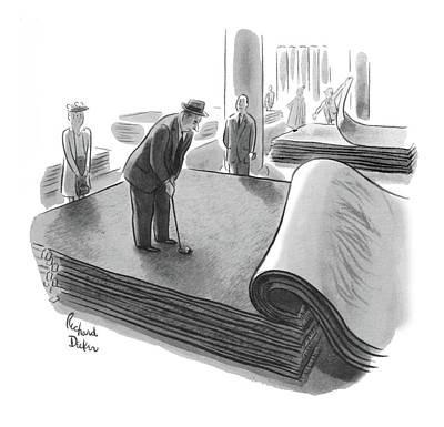 Rde Drawing - New Yorker June 25th, 1955 by Richard Decker