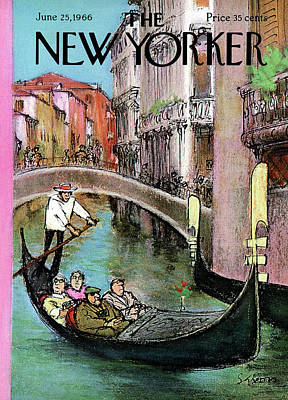 New Yorker June 25th, 1966 Art Print by Charles Saxon