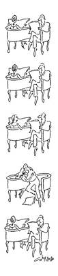 Then Drawing - New Yorker June 25th, 1979 by Vahan Shirvanian