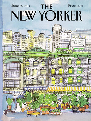 Storefronts Painting - New Yorker June 25th, 1984 by Barbara Westman