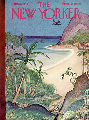 South Pacific Painting - New Yorker June 26th, 1943 by Rea Irvin