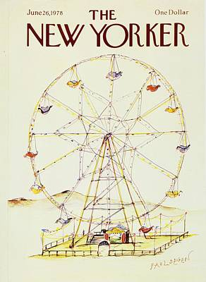 Ride Painting - New Yorker June 26th 1978 by Paul Degen