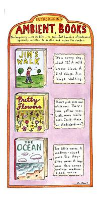 Book Title Drawing - New Yorker June 26th, 1995 by Roz Chast