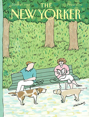 Leisure Painting - New Yorker June 27th, 1988 by Devera Ehrenberg