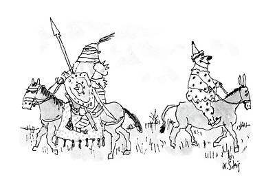 Armor Drawing - New Yorker June 27th, 1988 by William Steig