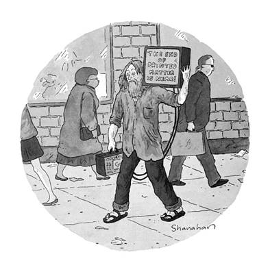 Danny Drawing - New Yorker June 27th, 1994 by Danny Shanahan