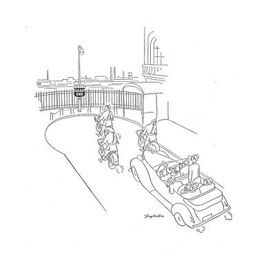 Action Drawing - New Yorker June 28th, 1941 by Perry Barlow
