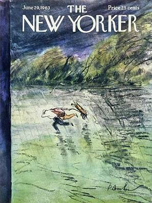 Golf Art Painting - New Yorker June 29th 1963 by Perry Barlow