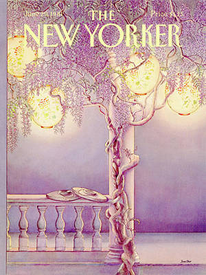 Lamp Painting - New Yorker June 29th, 1981 by Jenni Oliver