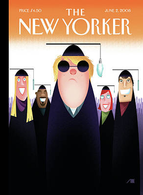 Painting - New Yorker June 2nd, 2008 by Bob Staake