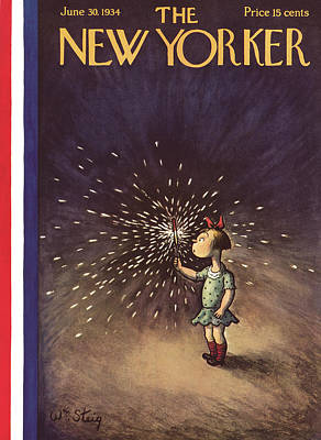 Fireworks Painting - New Yorker June 30th, 1934 by William Steig