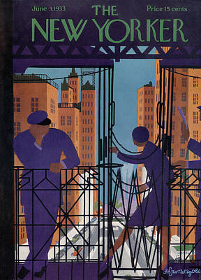 Subway Painting - New Yorker June 3rd, 1933 by Adolph K. Kronengold