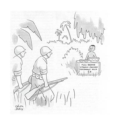 Full Body Drawing - New Yorker June 3rd, 1944 by Chon Day