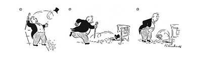 Homeless Man Drawing - New Yorker June 3rd, 1944 by Roberta Macdonald