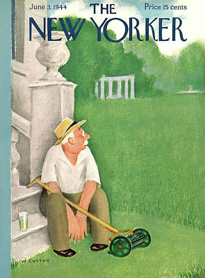 New Yorker June 3rd, 1944 Art Print by Will Cotton