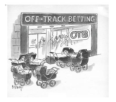 Race Horse Drawing - New Yorker June 3rd, 1972 by Barney Tobey
