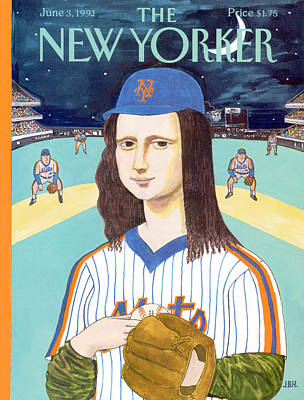 Baseball Art Baseball Painting - New Yorker June 3rd, 1991 by J.B. Handelsman
