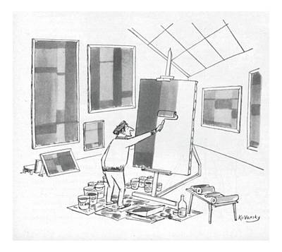 Silly Drawing - New Yorker June 4th, 1955 by Anatol Kovarsky