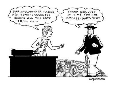 New Yorker June 4th, 1990 Art Print by Charles Barsotti
