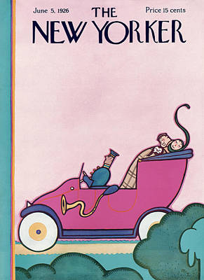 Transportation Painting - New Yorker June 5th, 1926 by Rea Irvin