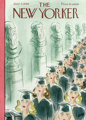 University School Painting - New Yorker June 5th, 1948 by Leonard Dove