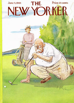 Golf Painting - New Yorker June 5th, 1965 by Perry Barlow