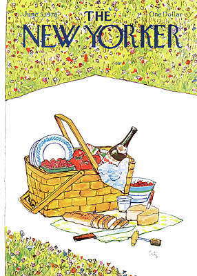 Out Basket Painting - New Yorker June 5th, 1978 by Arthur Getz