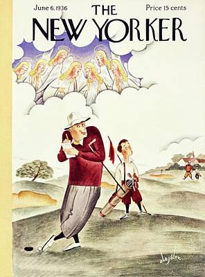 Golf Painting - New Yorker June 6 1936 by Constantin Alajalov