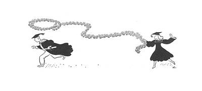 Daisy Drawing - New Yorker June 6th, 1942 by  Alain