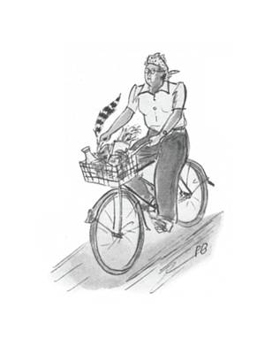 Bicycle Drawing - New Yorker June 6th, 1942 by Perry Barlow