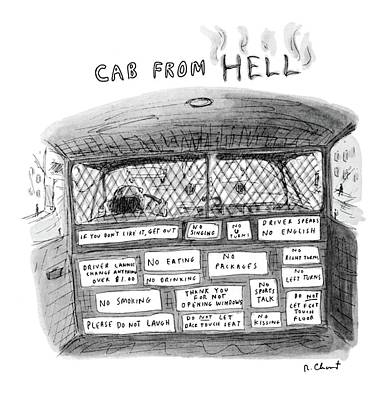 Laugh Drawing - New Yorker June 6th, 1983 by Roz Chast