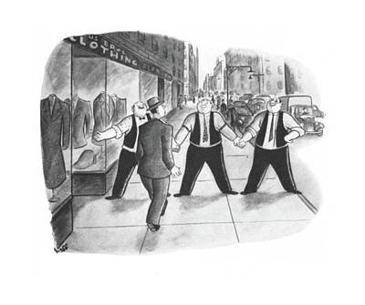 Clothes Clothing Drawing - New Yorker June 7th, 1941 by Sydney Hoff