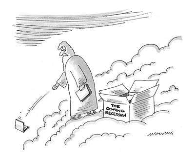 Zeus Drawing - New Yorker June 7th, 1999 by Mick Stevens