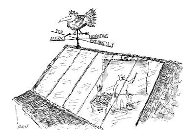 Weather Vane Drawing - New Yorker June 8th, 1968 by Edward Koren