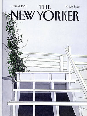 Simpson Painting - New Yorker June 8th, 1981 by Gretchen Dow Simpson
