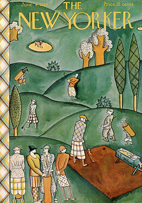 Golfer Painting - New Yorker June 9th, 1928 by Ilonka Karasz